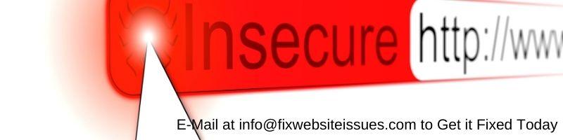 website https error fixing service